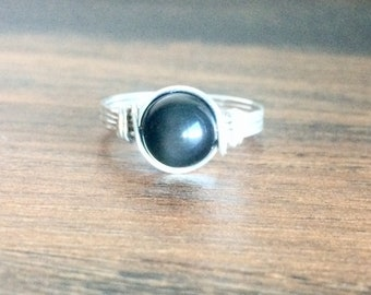 Rainbow Obsidian Ring, Obsidian Ring, Sterling Silver Gemstone Ring, 14k Gold Filled Gemstone Ring, Gift for Her
