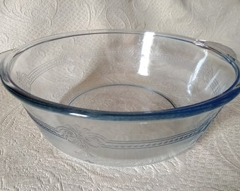 Casserole Dish #02142019 Vintage Fire King Sapphire Blue Glass Vintage Depression Glass