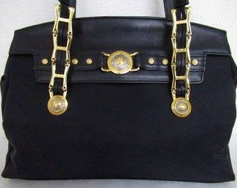 fc19f4e7c9a3 Versace bag with chain handles vintage