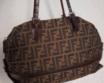 3ffbb24741b6 Fendi monogram zucca canvas bag