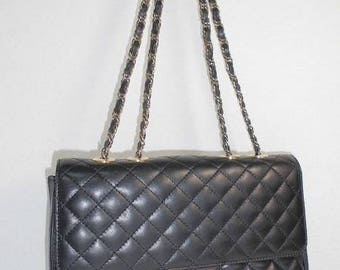 Pierre Balmain quilted leather bag with chain vintage