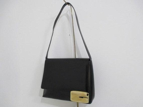 57ed5fc11af9a Gucci black leather bag very rare vintage item!!!