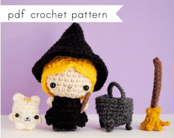 The Witch amigurumi pattern. Pdf crochet pattern