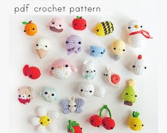 24 mini amigurumi pattern. Pdf crochet pattern