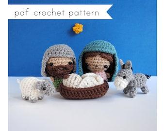 Nativity set amigurumi pattern. Pdf crochet pattern