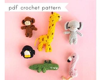 Little Safari Animals amigurumi pattern. Pdf crochet pattern.