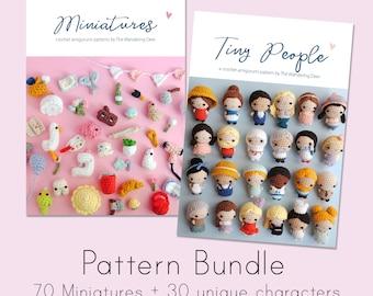 Tiny People + Miniatures amigurumi pattern. Pdf crochet pattern