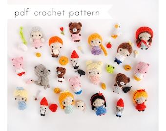 Fairytale dolls amigurumi pattern. Pdf crochet pattern