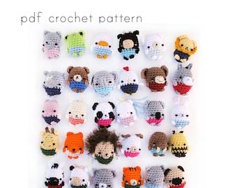 30 amigurumi animals pattern. Mini amigurumi. Pdf crochet pattern.