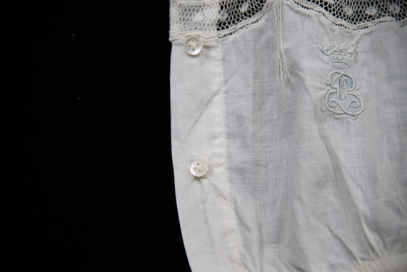 Antique French Cotton Handmade Lace Camisole - image 4