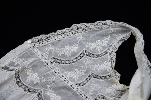 Antique French Cotton Handmade Lace Camisole - image 3