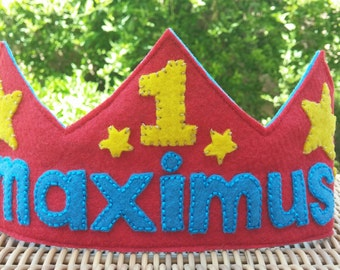 Personalized Felt Birthday Crown