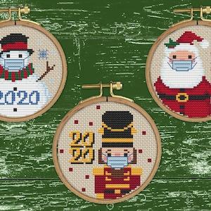 Christmas Cross Stitch Patterns Etsy