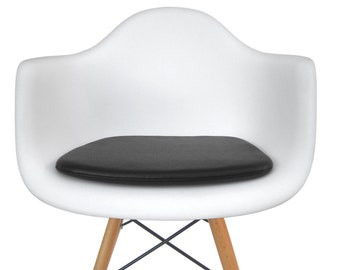 Vinyl Cushion For Eames Molded Plastic Arm Chair   Leather Like Appearance