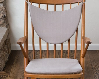 2 piece set Replacement Cushions for Frank Reenskaug Rocking Chair - Upholstery Fabric - Many Colors Available
