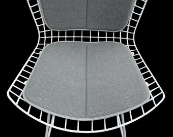 Upholstery Cushion And Back Pad For Bertoia Side Chair   Mid Century Eames  Era Vintage Style Decor