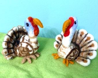 Materials for Guild Needle Felted Turkey Workshop