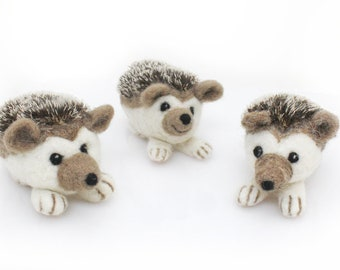 Needle Felted Hedgehog Sculpture