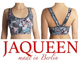 291b0913a98c sports bra african print, handmade top, womens underwear tops, cotton  jersey, handcrafted fashion Berlin, gym bra sports bra, design wear