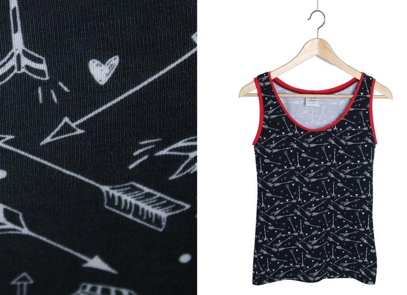 new style 7546c dd400 Unterhemd Baumwolle schwarz rot, Damen Hemd, Frauen Top, handgemacht in  Berlin, witzige süsse Unterwäsche, Damen Unterhemden, Wäsche