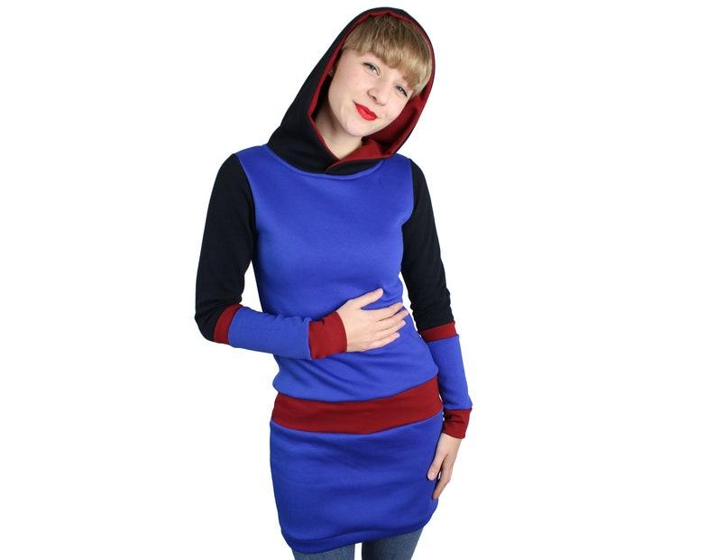 Damen SchwarzWinter Hoodie KapuzeDesigner ModeHoodiekleidJaqueenLanger Rot DamenkleidBlau Kleid KapuzenkleidFrauen iZkXPOu