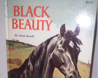 Vintage 1962 Black Beauty book Hardcover grosset dunlap Anna Sewell illustrated