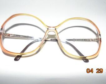 509ccb7e318 Vintage Christian Dior original genuine Eyeglasses glasses Austria 70s 80s  2333 plastic frames metal arms