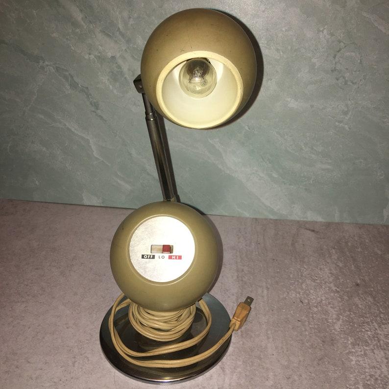 Vintage Vtg JC Penney Telescoping Chrome Orb Eyeball Desk Table Lamp Light MCM Mid Century