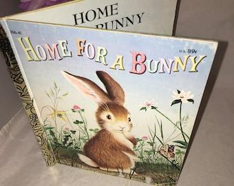 Vintage 1961 little golden book Home for a Bunny Easter
