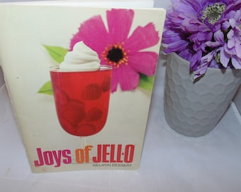 Vintage Joys of Jello Gelatin Dessert Recipe Book cookbook PB general Foods 1960s