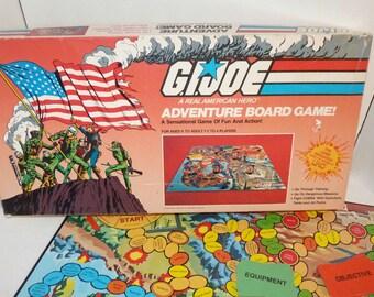 Vintage Gijoe GI Joe American Hero Adventure Board Game Hasbro 1982 snake eyes
