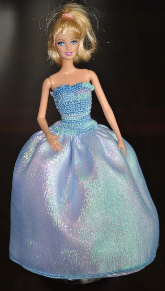 Yellow Strapless Organza Ball Gown Wedding Dresses for 11.5 inches doll