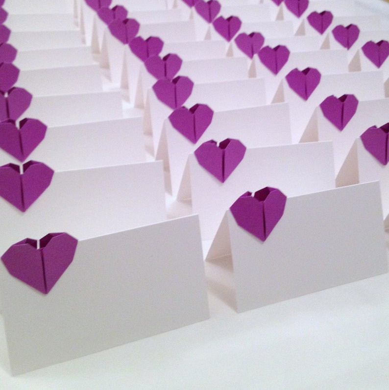 origami placecard holders - StR Events | 796x794