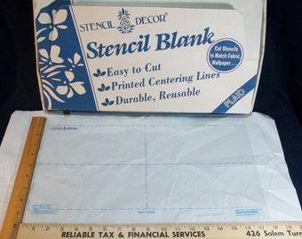 Plaid Stencil Decor Clear Cut Stencil Blank 2667 Loose sheets