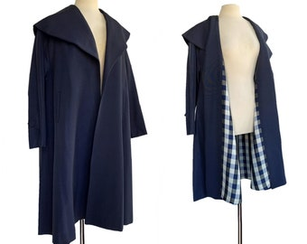 Vintage 60s Midnight Blue Swing Coat