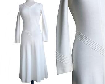 Vintage 1970s Anna Modeller knit dress  Made in Sweden  Titti Wrange