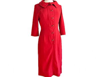 Vintage 50s red wiggle dress/ Peck & Peck mod dress/ Mad Men dress/