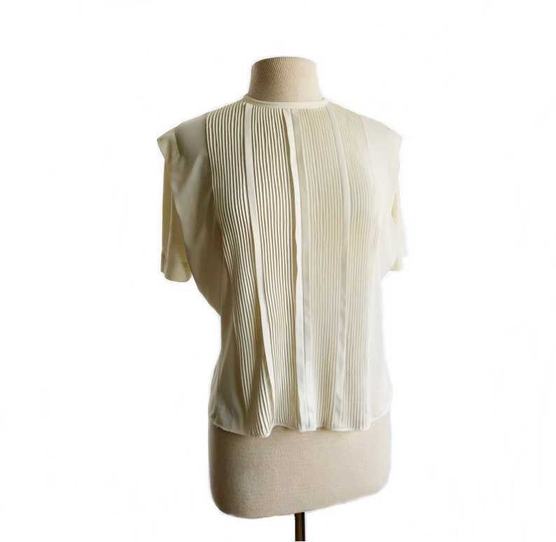 a0c0a828b85f0 Vintage 50s pleated blouse with micro pleats  The Pilot