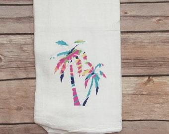 beach house decor kitchen towel tea towel kitchen decor pattern vinyl flour sack towel closing gift hostess gift towel  kitchen gift