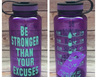 Water Bottle Tracker Keep Track Water Cute Water Bottle 34 Etsy