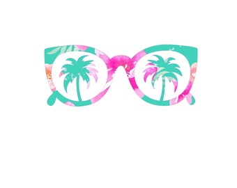 66d7f26d016 beach sunglass sticker
