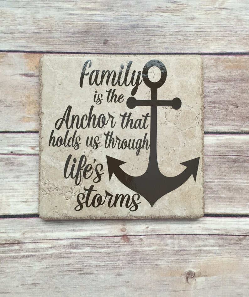 family hope anchor sign, family quote, strong family ties, gift for family,  anchor decor, family going through hard times sign