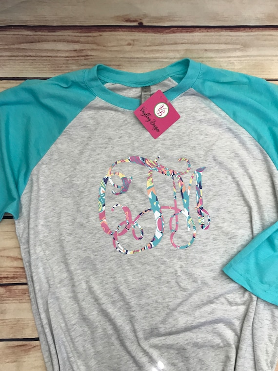 59b12d319 Custom baseball monogram shirts for women monogram raglan | Etsy