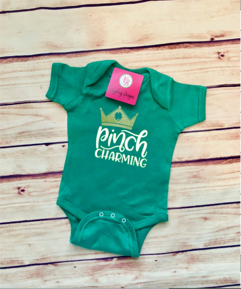 50cd3c83 St Patrick's Day baby outfit pinch charming Baby boy St. | Etsy