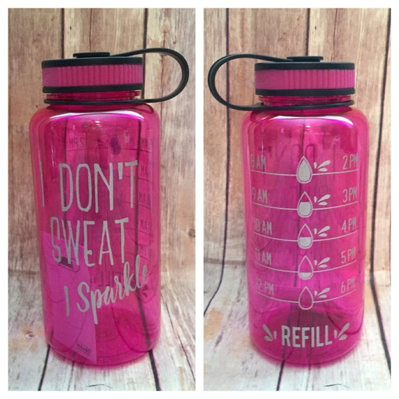 Water Bottle Water Bottle Tracker I Dont Sweat I Etsy