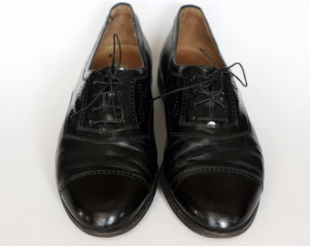 85c104ad05b vintage mezlan black leather shoes mens size 12M hand made in spain