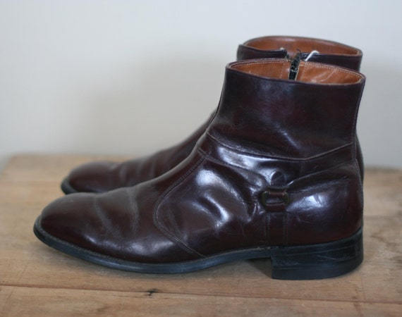vintage stuart mcguire leather ankle boots beatle
