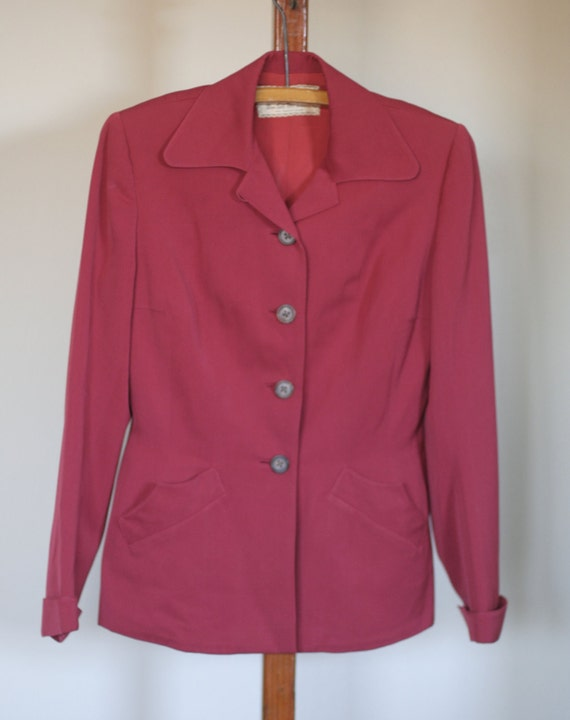 vintage 40s womens red suit suit klein and klein s