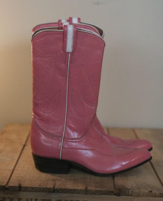 vintage pink tony lama womens cowboy boots