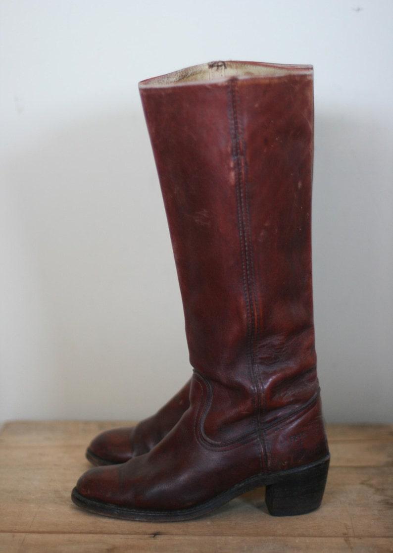 023ff0e18282d vintage womens tall frye boots oxblood size 7B
